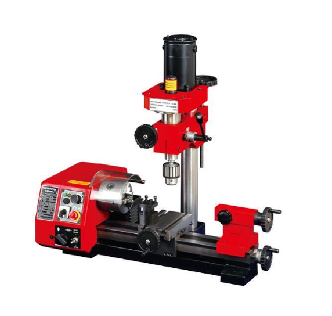 M1 250mm Micro Multi-funktion Maschine Bohren und Fräsen Drehmaschine maschine 220 V