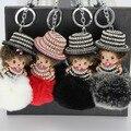 Diamond Mengjiji Keychain Key Rex Rabbit Fur Ball Keychain Dai Maozi Ornaments