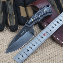 Stainless steel straight knife corrosion outdoor survival tools small folding knife holster multifunctional hunting knife woodwo