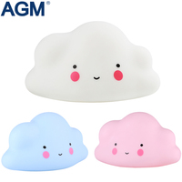 AGM Cute Pink Cloud Shaped Battery Table Night Light For Kids Children Gift Room Atmosphere Light