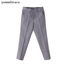 2016 New Arrival Big Boys Black Oxford Formal Performance Suit Pant Brand Gentle Style Kids Gray Wedding Trousers Boys Pant,C258