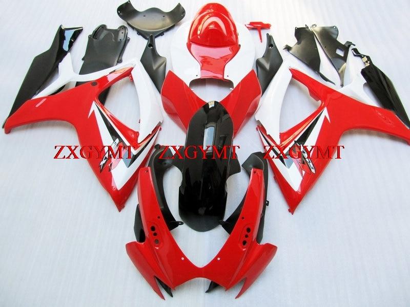 Bodywork for GSX R 600 2006 - 2007 K6 Plastic Fairings GSX R 750 2006 Red White Fairing GSX-R600 07Bodywork for GSX R 600 2006 - 2007 K6 Plastic Fairings GSX R 750 2006 Red White Fairing GSX-R600 07