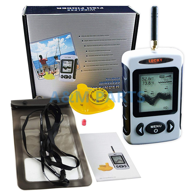 Wireless Portable Fish Finder Ice Fishing Sonar Sensor 240FT Depth Sounder AlarmWireless Portable Fish Finder Ice Fishing Sonar Sensor 240FT Depth Sounder Alarm