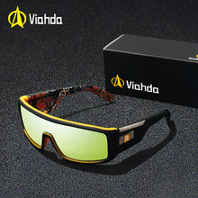 8d3b2693f064 Viahda 2019 New Windproof Sunglasses Fashion Big Frame Brand Designer Women De  Sol UV400 With Case