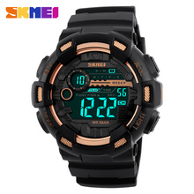 SKMEI Men LED Digital Watch Chronograph Alarm Multiple Time Zone Sports Watches Waterproof Wristwatches Relogio Masculino 1243 цена