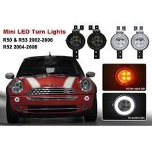 Luz branca dianteira do estacionamento do diodo emissor de luz de drl/luzes do sinal da volta para mini r50 r52 r53