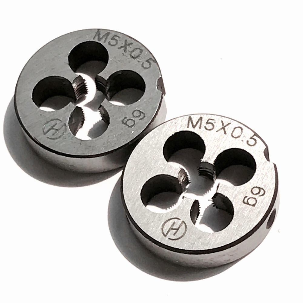 Free Shipping Of 2pcs Metric Thin Pitch Die M5 X 0.5 Mm OD 20MM Threading Tools Lathe Model Engineer Thread Maker 5 Mm X 0.5mm