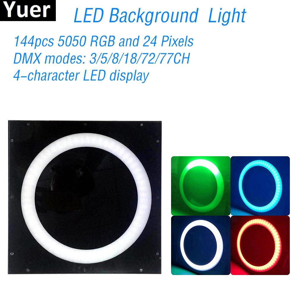 2019 144 pcs led halo pixes fundo luzes ativado por som luz festa club led rotating