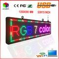 P10RGB 7 cor ao ar livre LEVOU assinar com fonte de alimentação UL 15X53-inch alto-brilho rolagem programável LEVOU exibição