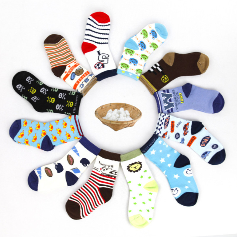 20 Pieces=10 Pairs  Children Socks Spring&autumn Cotton Baby Girls Socks With Boys Socks Solid Color Kids Sport Socks 1-9Y