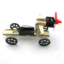 diy kit hand made car toy suit wooden wind car science model toys for kid learning model