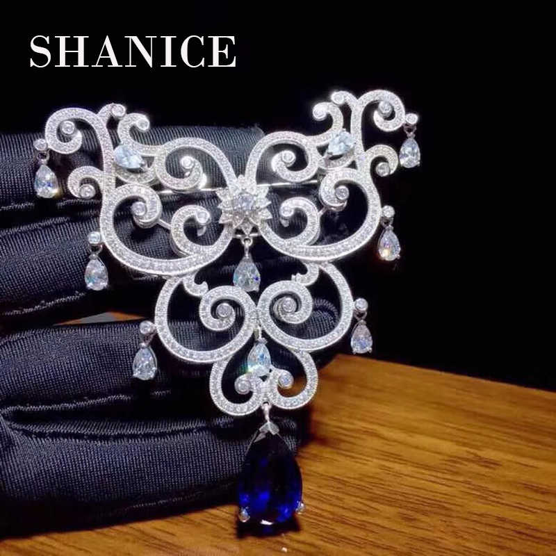 SHANICE DIY Jewelry 55*70mm Big Butterfly CZ Micro Paved Crystal Necklace Pendant Connectors For Fine Jewellery Bracelets Making