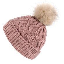 Cappelli di inverno per Le Donne Berretti Cap 2018 di Alta Qualità di  Colore Rosa Cappello 584a7609012b