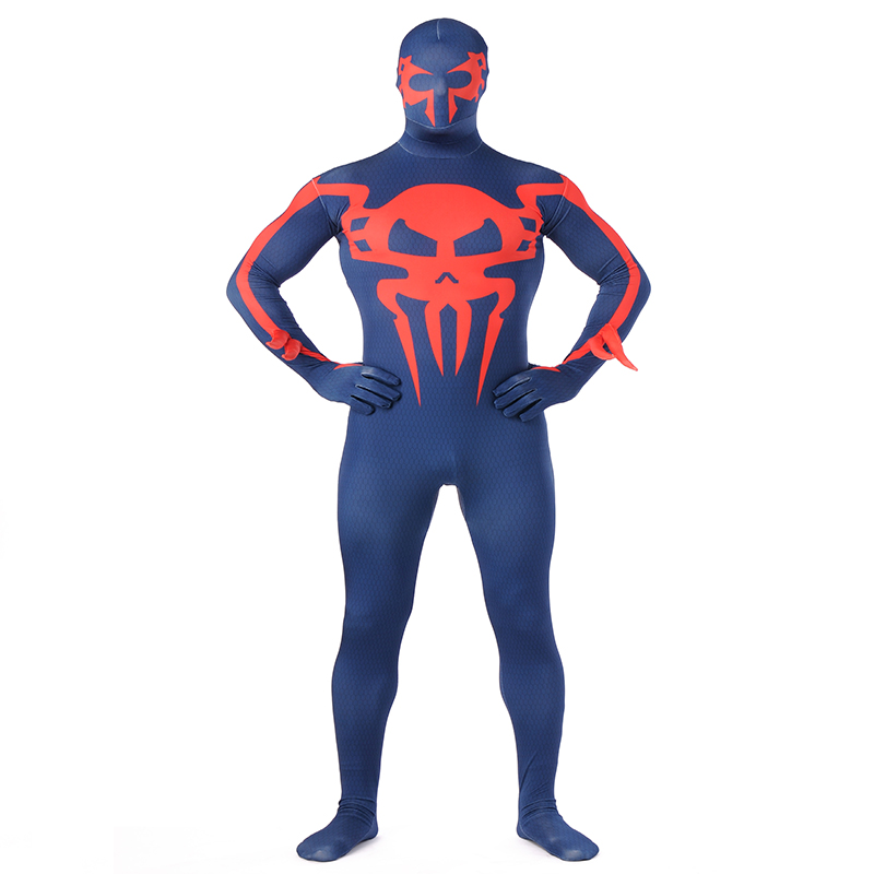 Hot New The Amazing Spider-man Costume Halloween Cosplay Lycra Spandex Spiderman Superhero Costume Flexible Zentai Bodysuit XXL