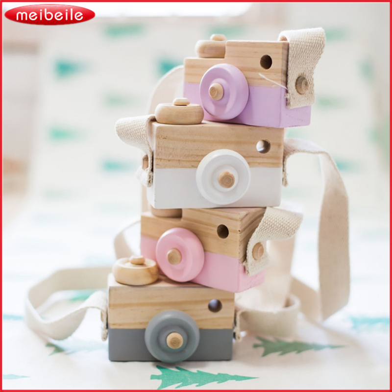 Cute Wooden Toy Camera For Baby Kids Room Decor Furnishing Articles Child Christmas Birthday Gifts Nordic European Style