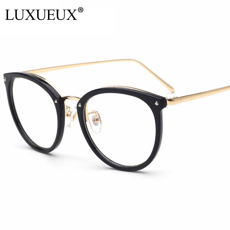 Latest Retro Oversized Round Eyeglasses Frame 2017 New Full Rim ...