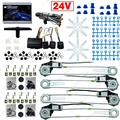 Car/Truck DC24V Universal 4 Doors Electronice Power Window kits With 8pcs Swithces & Harness #J-2978