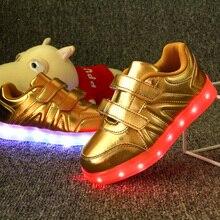 Детская Обувь USB Аккумуляторная Красочные Светящиеся Кроссовки Мода Дети СВЕТОДИОДНЫЕ Обувь Блеск Обувь для Мальчиков и Девочек