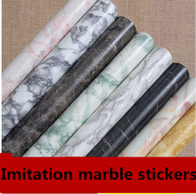 Thickening marble sticky wallpaper from kitchen hearth window waterproof paint furniture renovation stickers1334