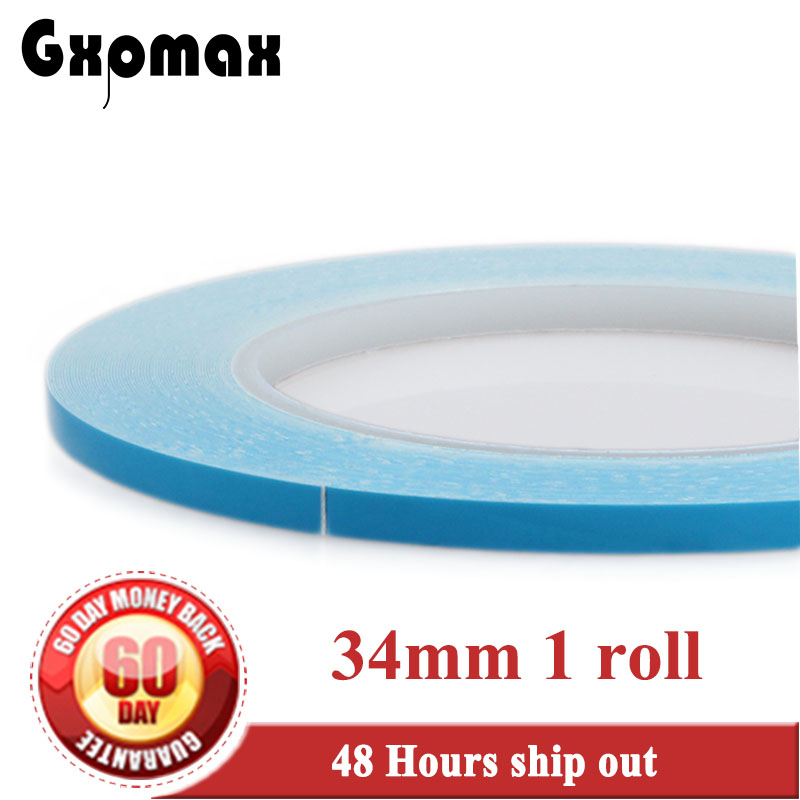 34mm*20M Thermal Conductive Tape Heat Transfer Fiber Glass Double Sided for DC/DC circuit board case #884 double sided glass fiber prototyping pcb universal board 12 piece pack