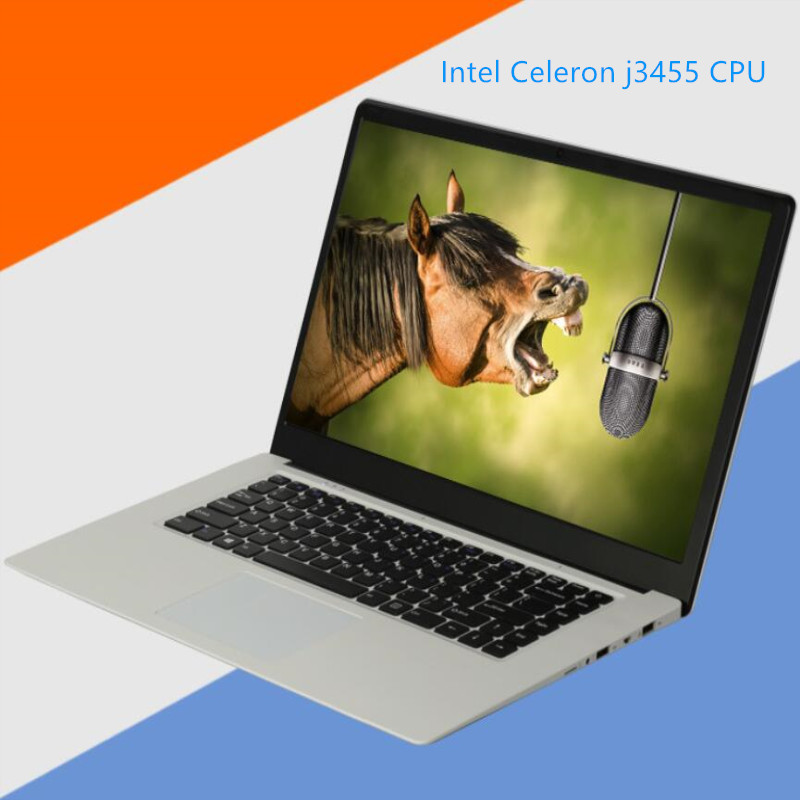 Notebook laptops 15.6 1920x1080P Intel Celeron J3455 CPU Quad Core 8GB RAM+480GB SSD USB 3.0 on for SALE laptops notebook image