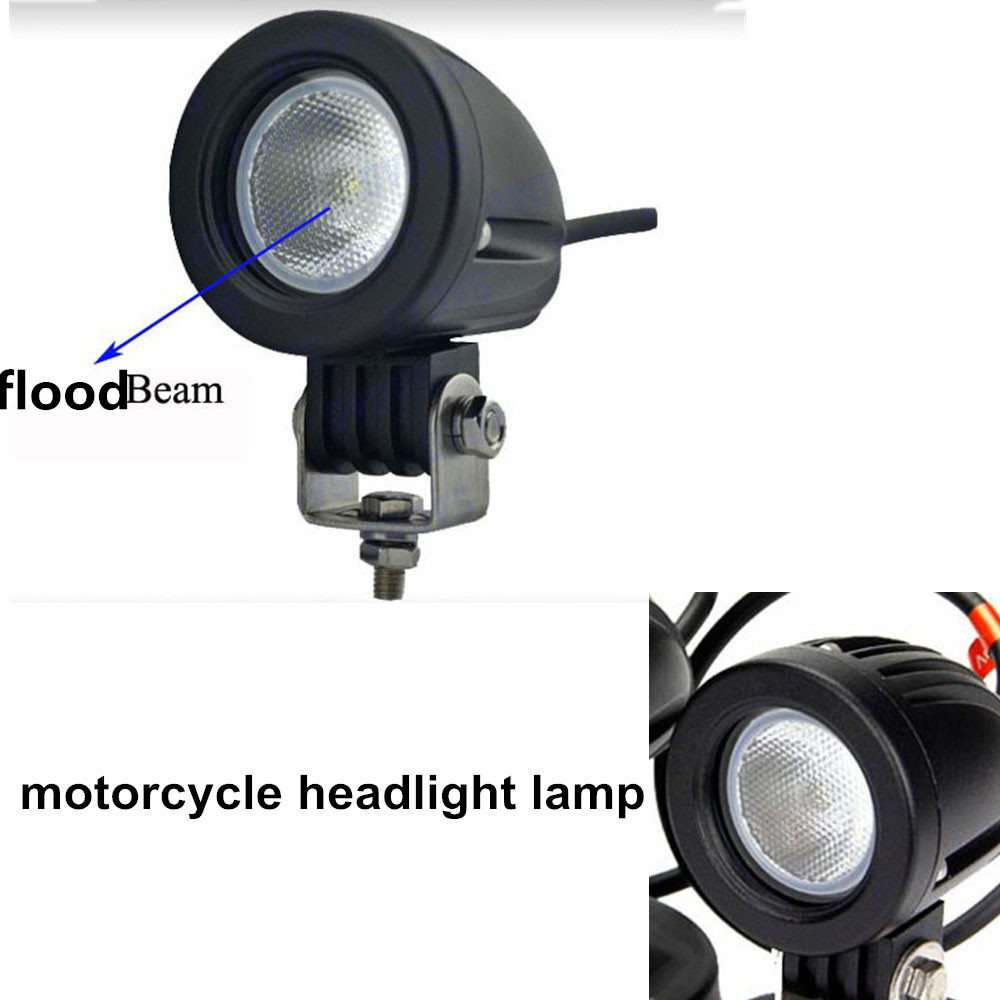 ФОТО newest 10w  motorcycle LED headlight    12V  IP67 for 4x4 car accessories truck Offroad  motorcycle headlight lamp
