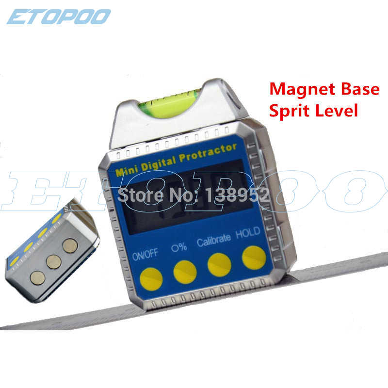 Digital Inclinometer with bubble Digital Angle Gauge Meter Spirit Box Level  Protractor horizontal Bevel