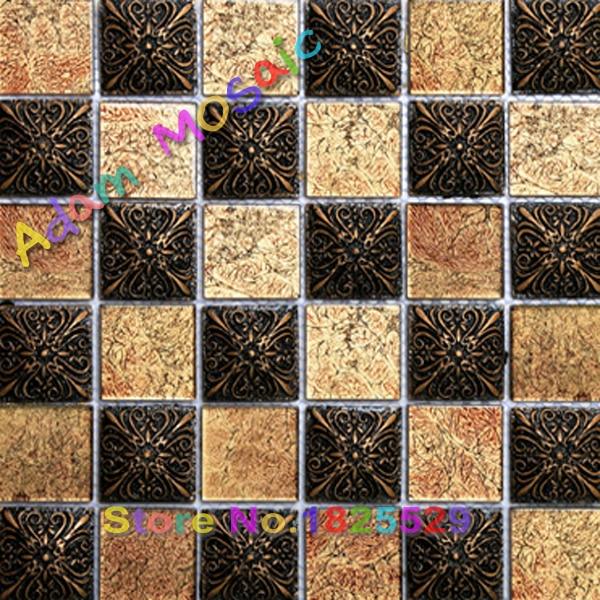 Chocolate Brown Restin Tile Fireplace Art Deco Mosaic Tiles Shower - Art deco mosaic tile patterns