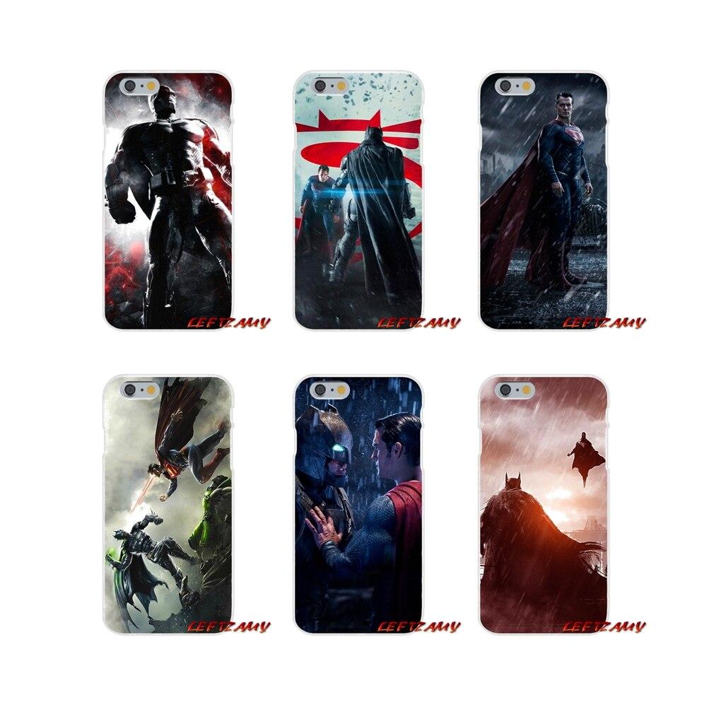 Batman vs Superman Movie Slim Silicone phone Case For iPhone X 4 4S 5 5S 5C SE 6 6S 7 8 Plus
