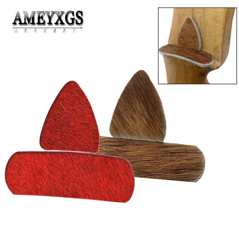 1set Recurve Bow Riser Arrow Rest Fur Material Stick Silent Plate Arrow Rest For Outdoor Sports Shooting Archery Accessories