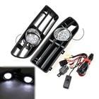 Front Lower Bumper Grill LED Fog Light Lamp for VW Golf MK4 GTI TDI 6000K 99-04 Waterproof