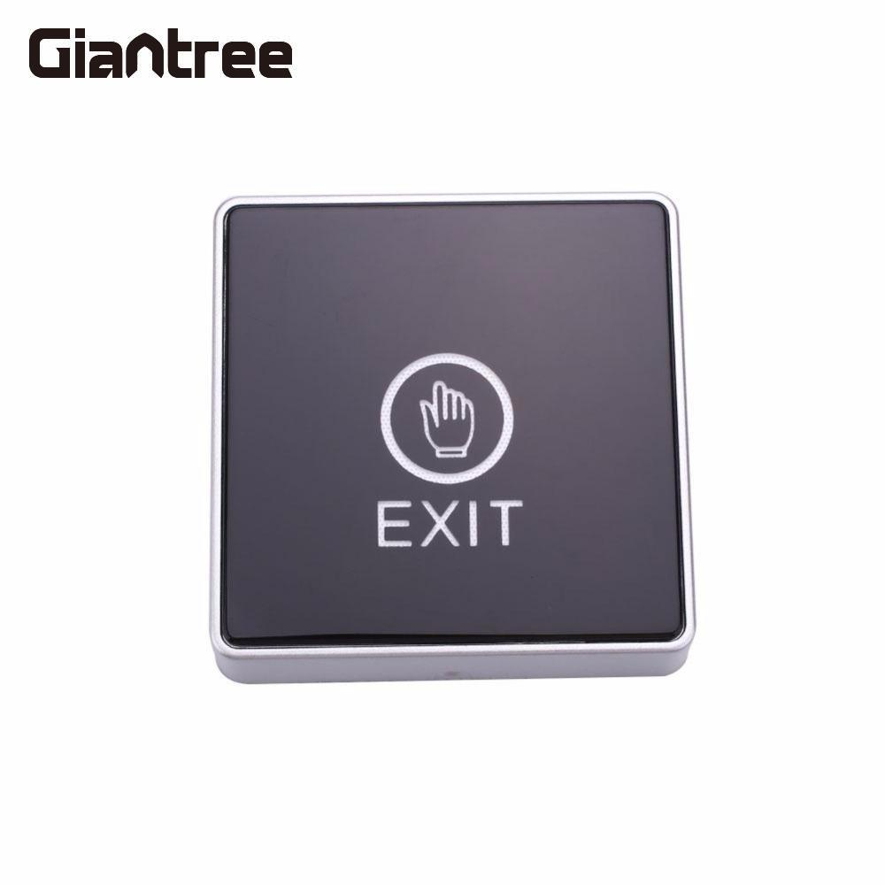 Giantree Touch Contact Door Release Exit Button Square Touch Sensor Exit Release Button w/LED Light For Access Control Terminal exit wound