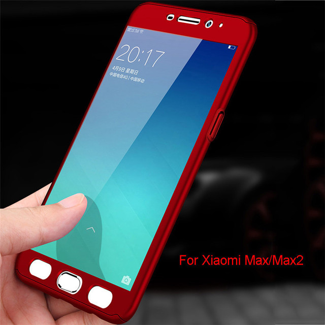 on sale a7f88 1748b US $3.07 23% OFF|Luxury 360 Degree Protection Shockproof Back Covers For  Xiaomi Mi Max 2 Cases Hard Matt Plastic Full Body Cover Xioami Max2-in  Fitted ...