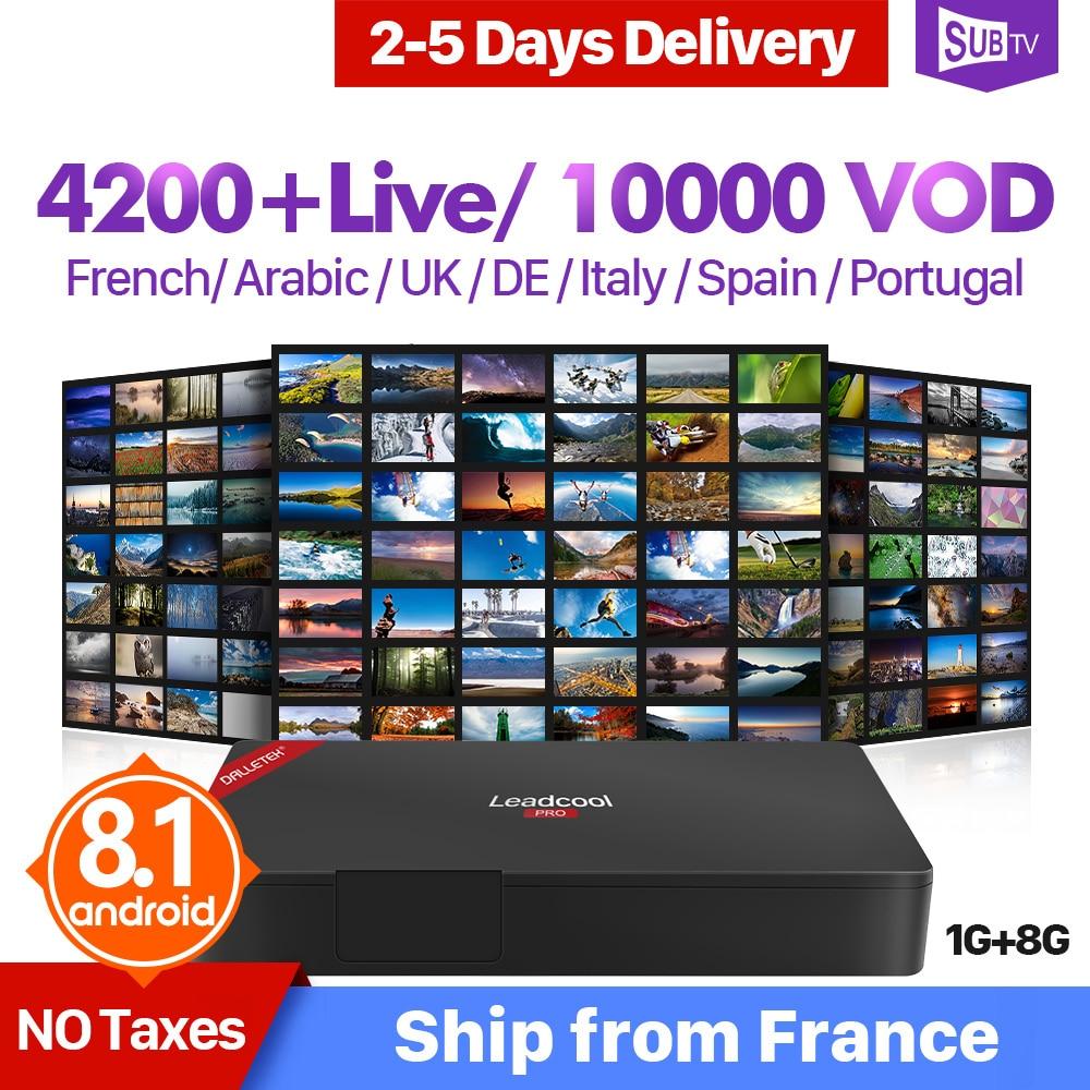 IPTV Box France Portugal Subscription Leadcool Pro Android 8 1 RK3229 Italy Turkish Arabic IPTV Receiver