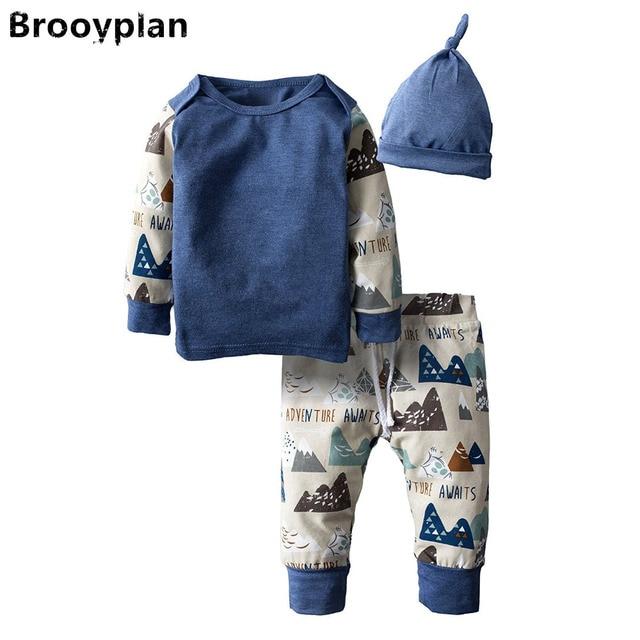6b8803beea1a3 2018 nouveau style automne nouveau-né bébé garçon fille vêtements infantile  manches longues 3 pièces