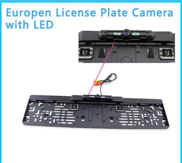 IR Night Vision rear view camera European License Plate Backup Parking camera to connect 2.4G wireless module backup