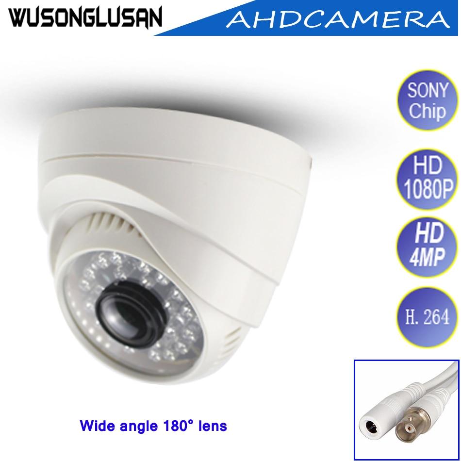 4Pcs a lot Indoor AHD Wide Angle Dome Camera 4MP 1080P 2 1mm 180 Degrees 24