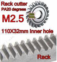 M2.5モジュラスpa20度110 × 32ミリメートルインナー穴hssラックフライスカッターギア切削工具送料無料