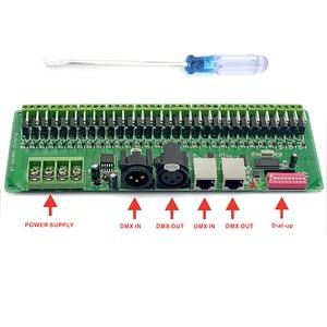 Image 3 - DMX Decoder 30 Channels RGB LED Strip Lights Driver DMX 512 No Plastic Box Controller DC 9V  24V DMX512 Dimmer