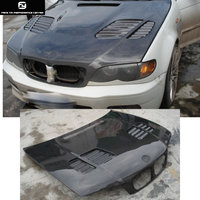 E46 3 series Sedan M3 style Carbon Fiber Front engine Hood Bonnets engine Covers for BMW E36 325i Sedan 98 04