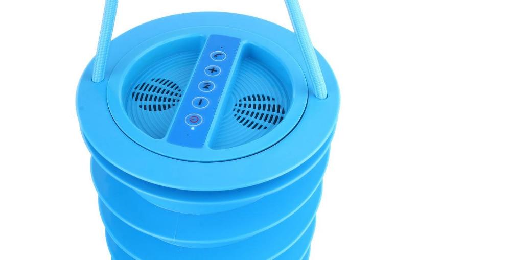 Coffre de plage bleu avec haut-parleur Bluetooth, caisson de basses, Radio FM, centrale électrique, seau à glace sur la plage, coffre de plage Anti-vol, 5 en 1