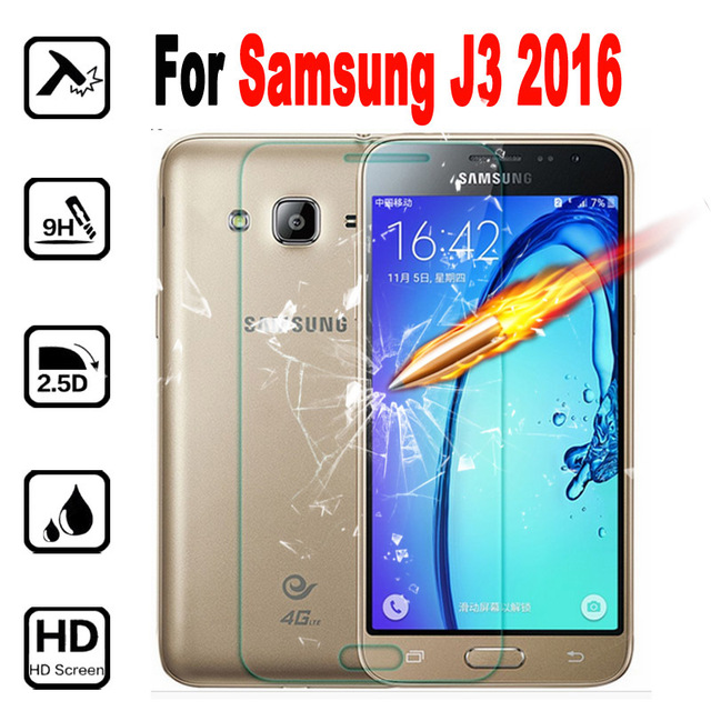 J3 Tempered Glass Phone Screen Protector Film For Samsung Galaxy J3 2016 J320 SM-J320F 9H Cover Protective Films Case 2pcs
