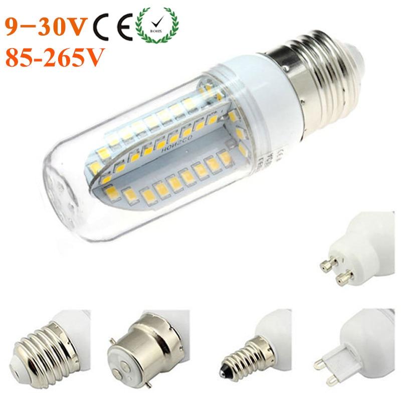 led bulb lamp e27 e14 screw base g9 gu10 ac dc 12v 24v 84 leds 2835 spotlight bulb e12 e26 110. Black Bedroom Furniture Sets. Home Design Ideas
