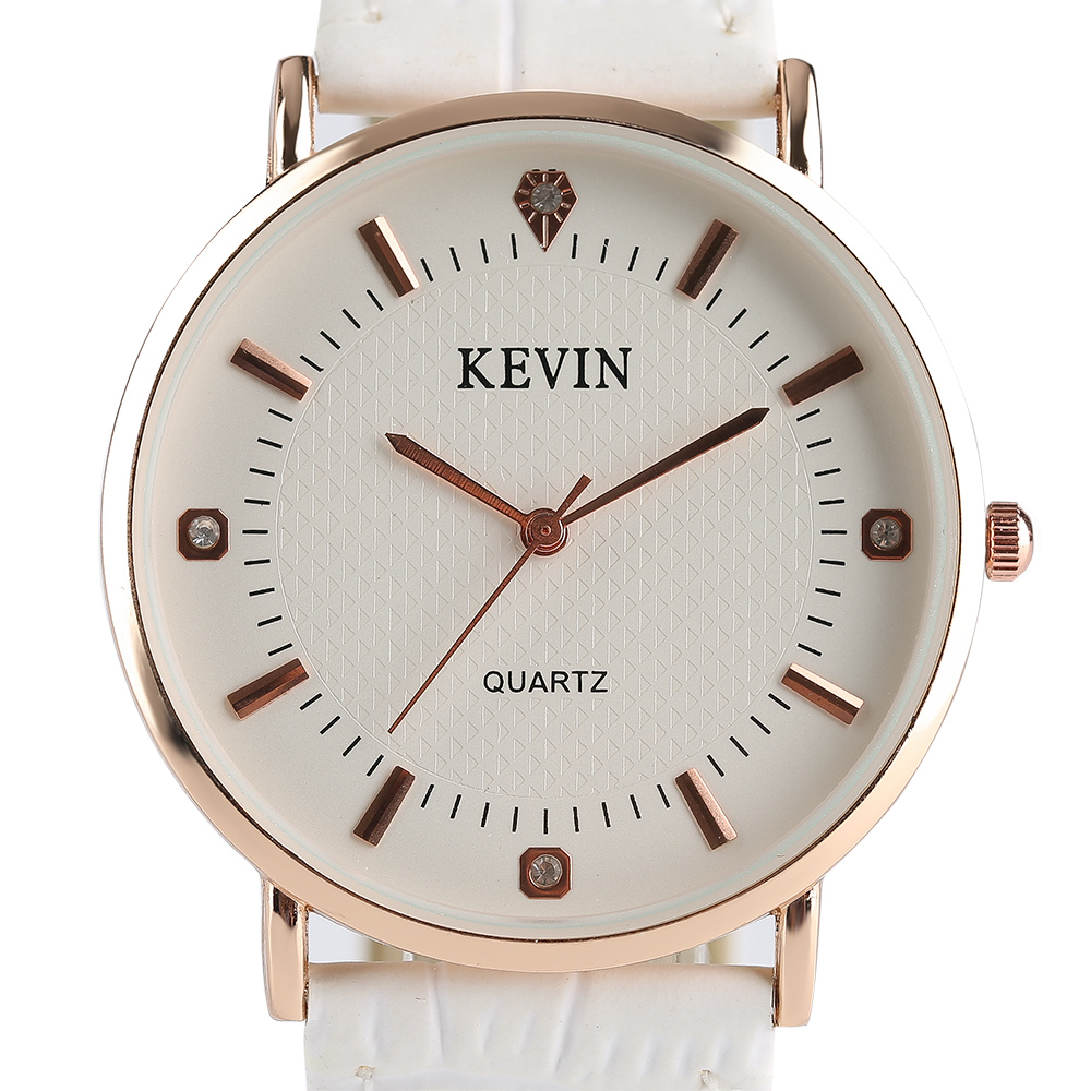 Modern Watches KEVIN Women Watches Crystal Stainless Steel&Leather Strap Ladies Sport Quartz Wrist Watch Relogio Feminino Gift