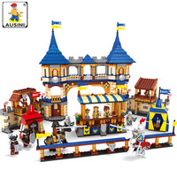 A Model Compatible With Lego A27908 1467Pcs Knights Castle Models Building Kits Blocks Toys Hobby Hobbies