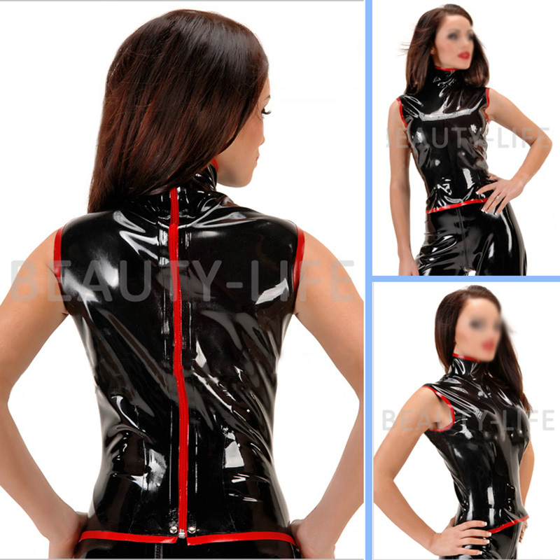 Latex Jacket Coat For Women Fetish Tank Zipper Plus Size Customization New Arrived 100% Natural Handmade Free Shipping