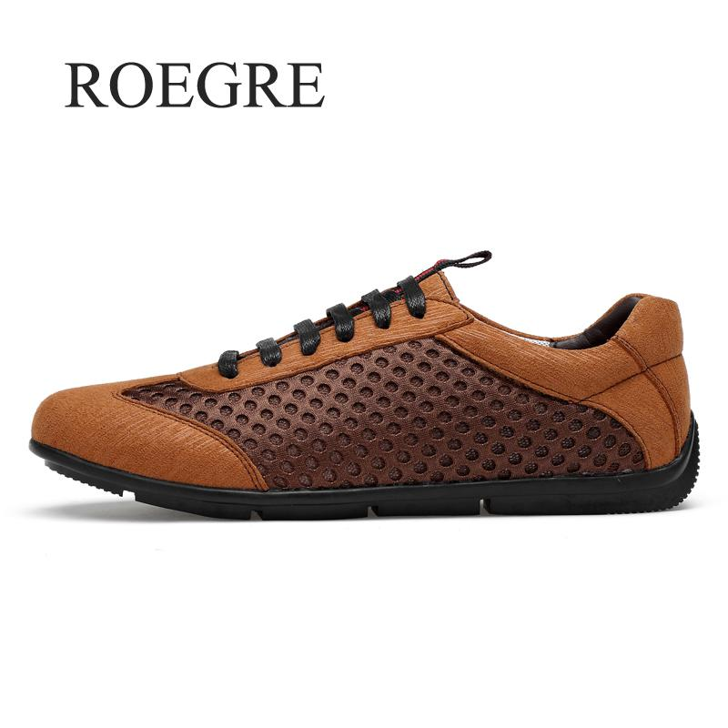 2018 Summer Breathable Mesh Shoes Mens Casual Shoes Genuine Leather Slip On Brand Fashion Summer Shoes Man Soft Comfortable цена