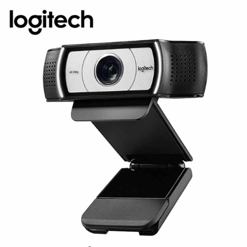 Asli Logitech C930c HD 1080P Webcam dengan Cover untuk Komputer Zeiss Lens USB Kamera Video 4 Waktu Digital ZOOM Web Cam