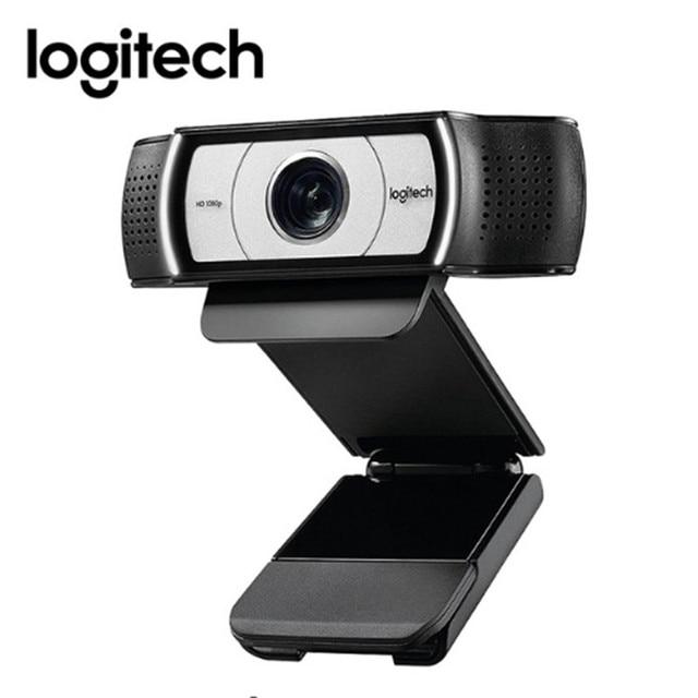 Logitech C930e HD 1080 P เว็บแคมสำหรับคอมพิวเตอร์เลนส์ Zeiss USB กล้องวิดีโอ 4 ดิจิตอลซูม Web cam