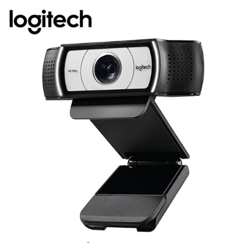 Original Logitech C930e HD Smart 1080P Webcam with Cover for Computer Zeiss Lens USB Video camera 4 Time Digital Zoom Web cam-in Webcams from Computer & Office